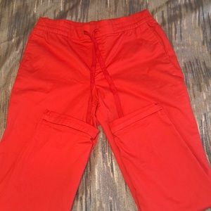 Old Navy orange drawstring pants